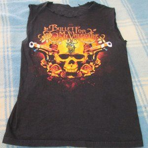 BULLET FOR MY VALENTINE  CUT OFF TANK TOP MEDIUM